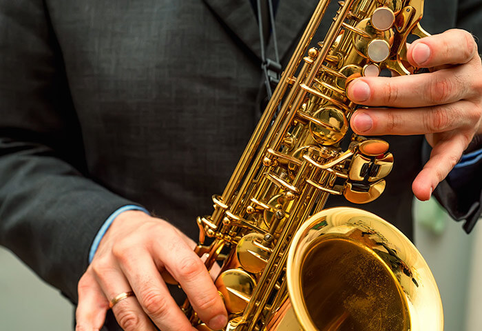 Saxophone player at Jazz Festival