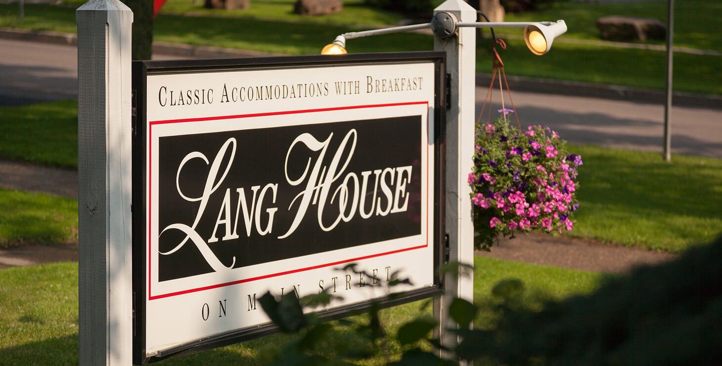 Lang House sign