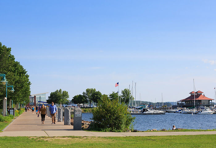 Waterfront Park with boats