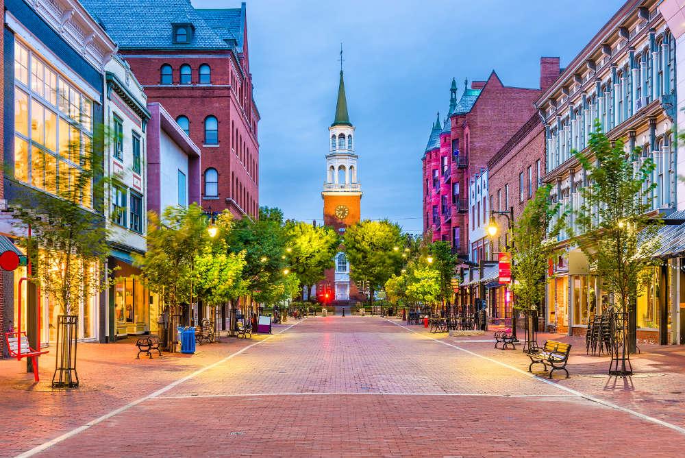 Burlington Vermont Downtown View