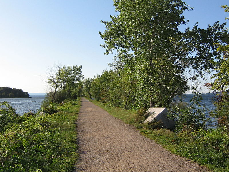 Burlington Bike Path, Biking Island Line, Mallets Bay Causeway, Lake Champlain, Vermont
