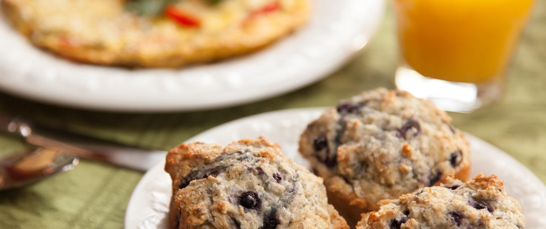 Fresh Muffins at a Burlington Inn