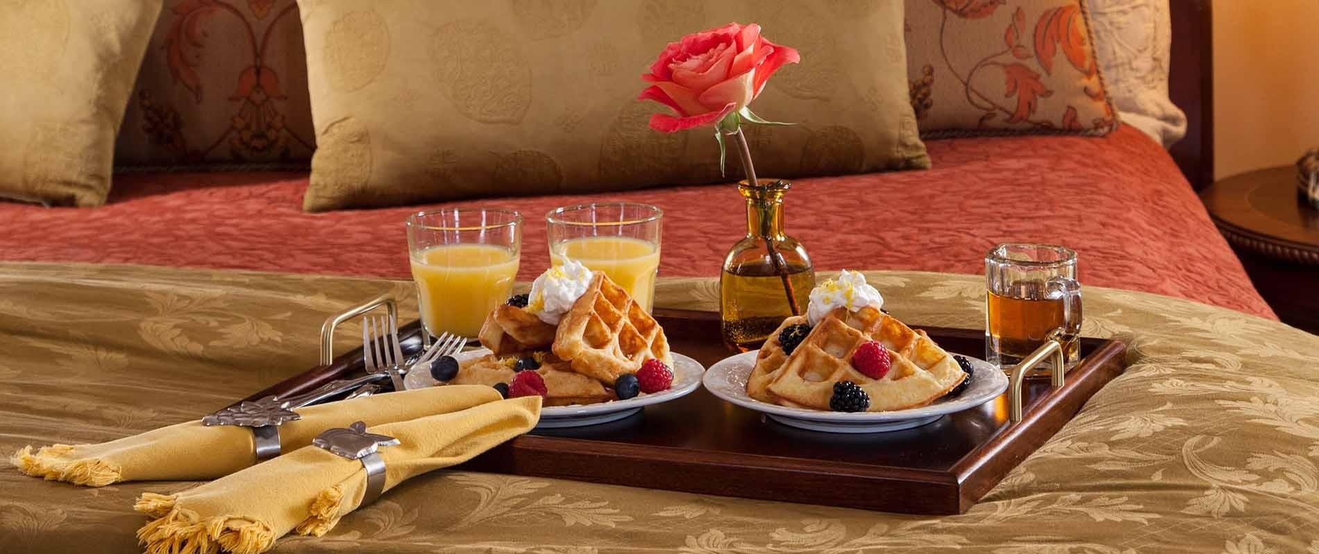 Breakfast in Bed in a Burlington VT Inn
